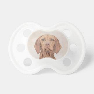 Chupeta Pintura de Vizsla - arte original bonito do cão