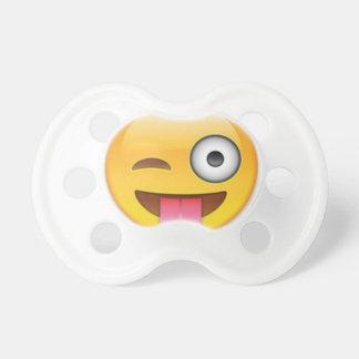 Chupeta Piscar os olhos insolente do emoji do smiley