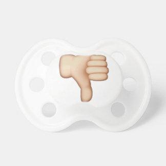 Chupeta Polegares para baixo - Emoji