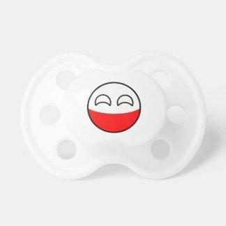 Chupeta Polônia Geeky de tensão engraçado Countryball