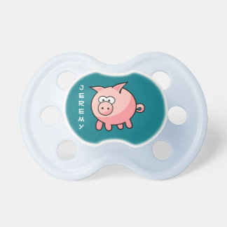 Chupeta Porco cor-de-rosa bonito personalizado
