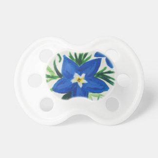 Chupeta pouca coleção azul da flor