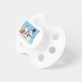 Chupeta Presente bonito do Xmas do Natal do boneco de neve