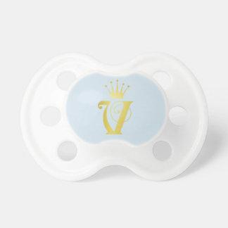 Chupeta Presente do Pacifier do bebê do monograma da letra