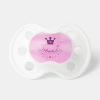 Chupeta Princesa cor-de-rosa Coroa Tiara Direitos Coração