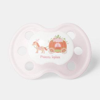 Chupeta Princesa do bebé da carruagem do cavalo e da