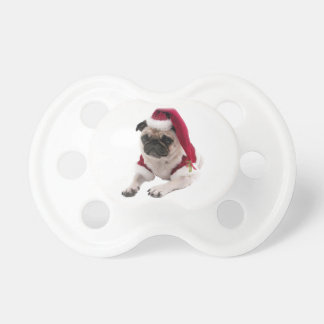 Chupeta Pug do Natal - cão de Papai Noel - persiga claus