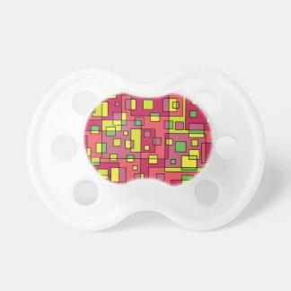 Chupeta Quadrado-fundo cor-de-rosa
