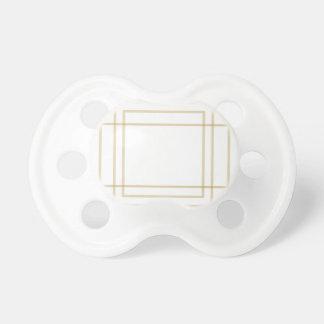 Chupeta Quadrados concêntricos do ouro geométrico
