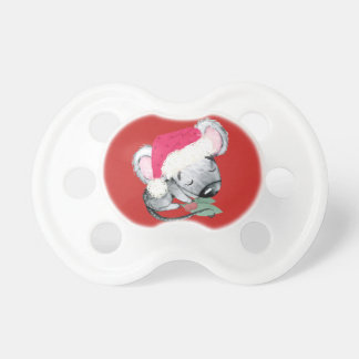 Chupeta Rato do bebê do Feliz Natal