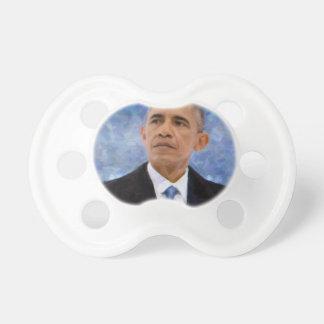 Chupeta Retrato abstrato do presidente Barack Obama 30x30