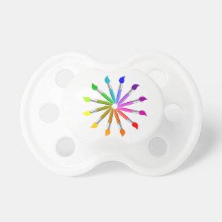 Chupeta Roda de cor da escova de pintura, teoria da cor do
