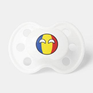 Chupeta Romania Geeky de tensão engraçado Countryball