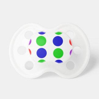 Chupeta Roxo vermelho do verde azul do design do círculo