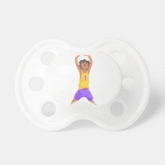 Chupeta Salto do jogador de basquetebol e ação de jogo