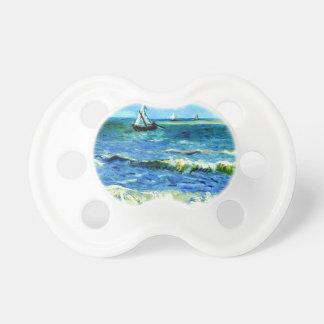 Chupeta Seascape em Saintes-Maries, Vincent van Gogh