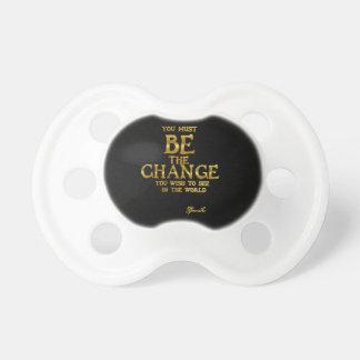 Chupeta Seja a mudança - citações inspiradas da ação de