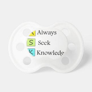 Chupeta sempre um conhecimento da busca k de s
