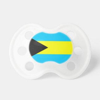 Chupeta Símbolo da bandeira de país de Bahamas por muito