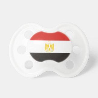 Chupeta símbolo da bandeira de país de Egipto por muito