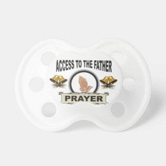 Chupeta sinos do acesso da oração