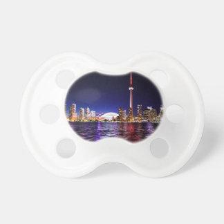 Chupeta Skyline da noite de Toronto