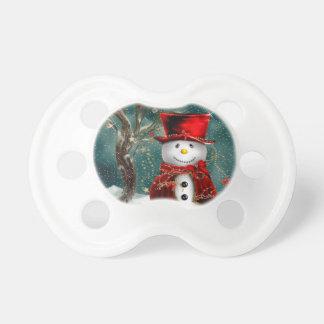Chupeta Snowmans bonitos - ilustração do boneco de neve