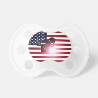 Chupeta Soldador e bandeira americana