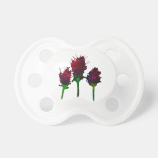 Chupeta Soother roxo bonito do bebê do design da flor