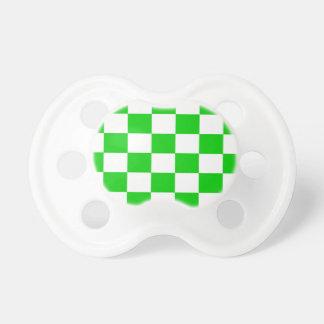 Chupeta Tabuleiros de damas verde-claro e brancos