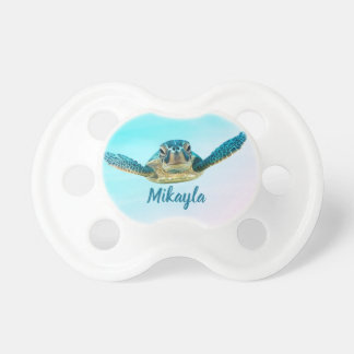 Chupeta Tartaruga de mar personalizada do bebê