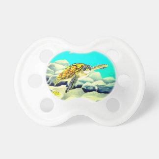 Chupeta Tartaruga de mar que pinta o mar azul bonito