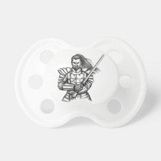 Chupeta Tatuagem da posição da luta do guerreiro do