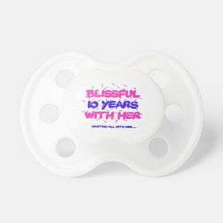 Chupeta Tendendo o 10o design do aniversário do casamento