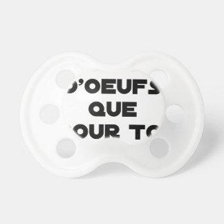 Chupeta TENHO OVOS APENAS PARA VOCÊ - Jogos de palavras -