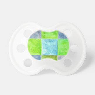 Chupeta Teste padrão azul e verde