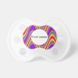 Chupeta Teste padrão de ondas colorido