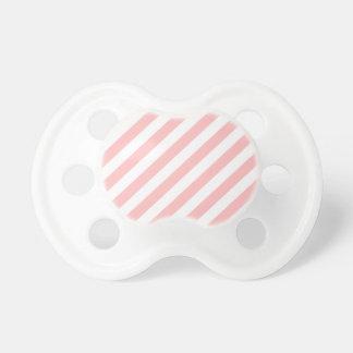Chupeta Teste padrão diagonal do rosa e o branco das
