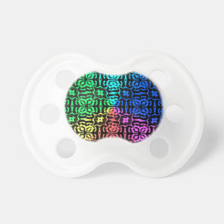 Chupeta Teste padrão e formas coloridos rústicos