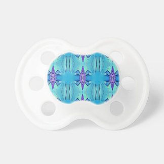 Chupeta Teste padrão feminino do Lilac azul Azure bonito