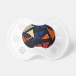 Chupeta Teste padrão geométrico colorido