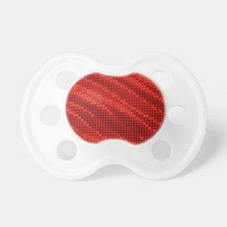 Chupeta Teste padrão vermelho vibrante do ponto & de onda