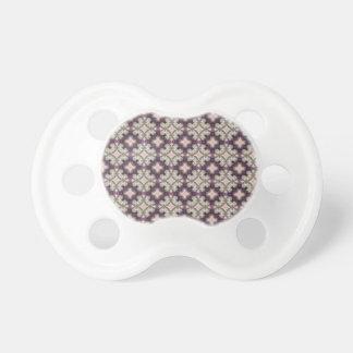 Chupeta Teste padrão violeta do caleidoscópio