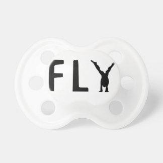 Chupeta Texto engraçado da mosca e design humano