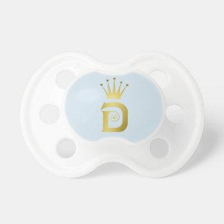 Chupeta Tiara da coroa do Pacifier do bebê da letra