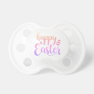 Chupeta Tipografia Multi-colorida felz pascoa do ovo da