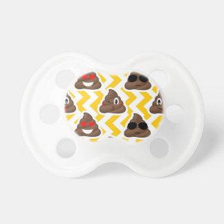 Chupeta Tombadilho amarelo Emojis do ziguezague