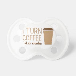 Chupeta Transforme o café no código