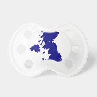 Chupeta U.K. e silhueta de Irlanda do Norte