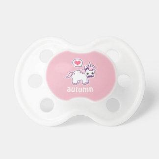 Chupeta Unicórnio cor-de-rosa bonito do bigode